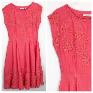 Isaac Mizrahi Live Embroidered Summer Dress